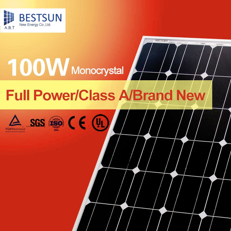 Small solar panel Mono solar cells 125*125 monocrystalline solar panel solar module 100w
