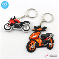 2016 new style fashion keychain Motorcycle Shape custom 3d pvc keychain