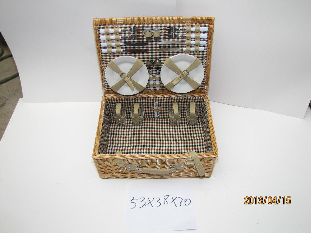 Handmade wicker picnic basket,picnic hamper,picnic set