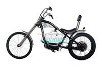 2016 new adult pedal harley chopper bicycle 500w /chopper bike 500w with 10Ah battery