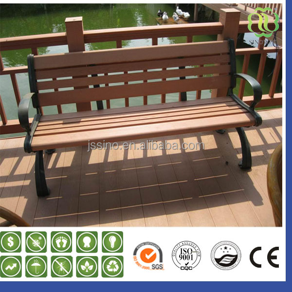 High Quality Outdoor Furniture UV-resistant Cheap Waterproof Wooden Plastic Composite WPC Garden Bench