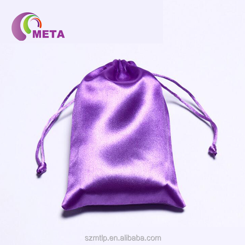 Large Promotional Drawstring Chinese Satin Jewelry Pouches