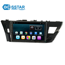 android 6.0 car audio multimedia car stereo player GPS navigation system for Corolla 2014 with bluetooth