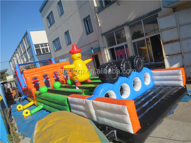 2015 high quality children games obstacle course equipment inflatable obstacle course
