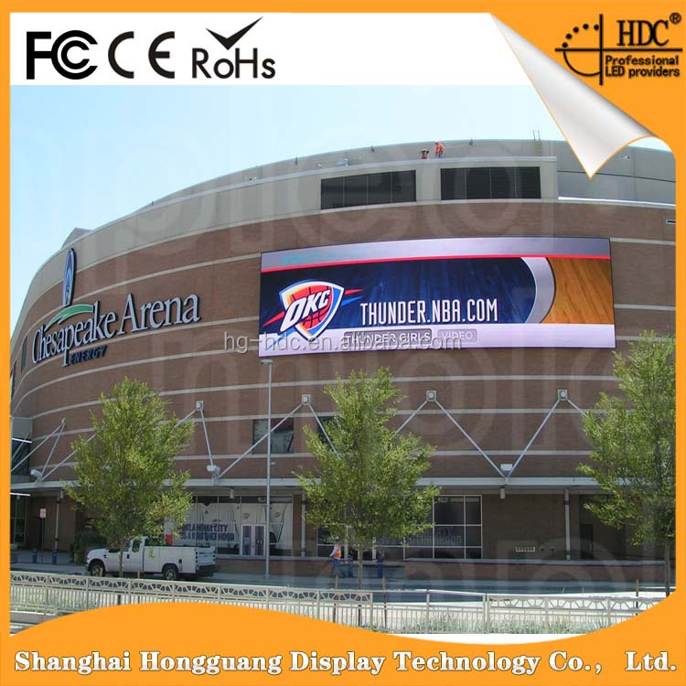 SMD 3535 Bright-coloured Outdoor Waterproof P10 big screen led billboard