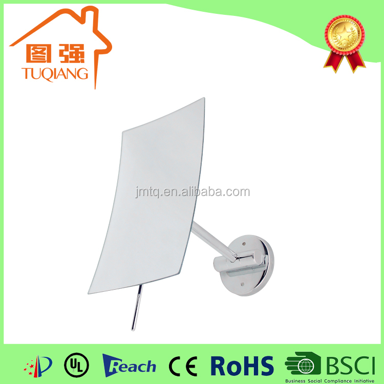 Hotel bathroom square wall mounted magnifying makeup mirror