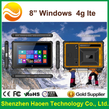 waterproof IP65 stainless steel industrial touch panel pc Barcode scanner RS232 Lan tablet android windows tablet pc