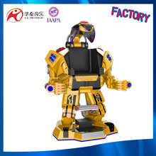 walking robot with fighting mode and music for adult and kiddie rides