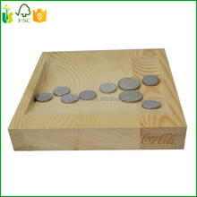 Small Pine Wood Coin Tray For Coin Decoration
