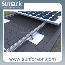 Aluminum Roof Flashing PV Panel Mounting Brackets