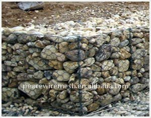 60x80 pvc coated gabion box wire fencing