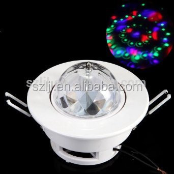 3W RGB Sound-activated disco dj ktv lamp LED full color ceiling stage light