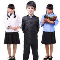 Chinese Zhongshan suit school traditional uniform for boys & girls ethnic costume performance wear for drama wholesale