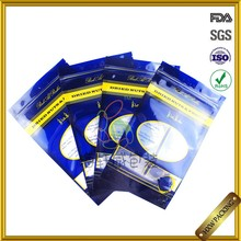 FDA test passed standing up food packaging nylon bag with zipper