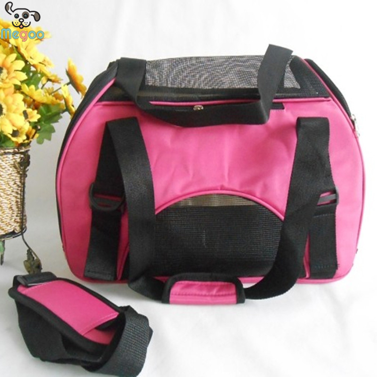 Waterproof Canvas Outdoor Pet Carrier Portable Dog Travel Bag With Breathable Mesh
