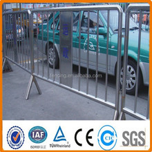 Road safety crowd barriers metal fence