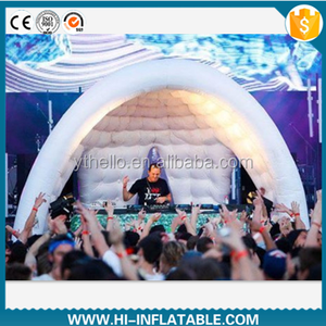 Hot selling inflatable tent for event, nightclub,air blown inflatable dome tent for DJ play
