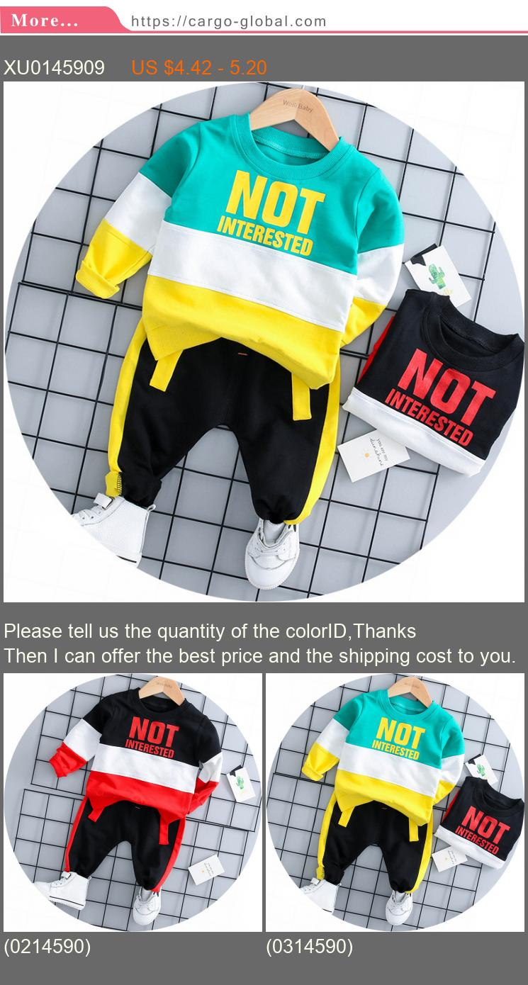 2018 Autumn Baby Girl Boy Clothing Sets Infant Clothes Suits Casual Sport T Shirt Pants Kid Child Clothes Suits