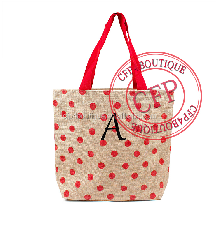 CFP B041 Hotsale Spring Shoulder Shopping Tote Raw Jute Bag