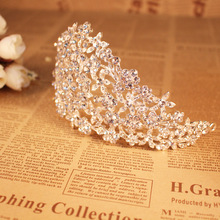 Wedding Hair Accessories Handmade Flower Diamond <strong>Crown</strong> and Tiaras