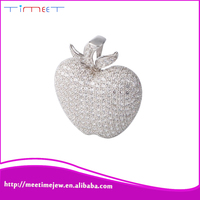 New Fashion apple shape charm silver pendant jewelry