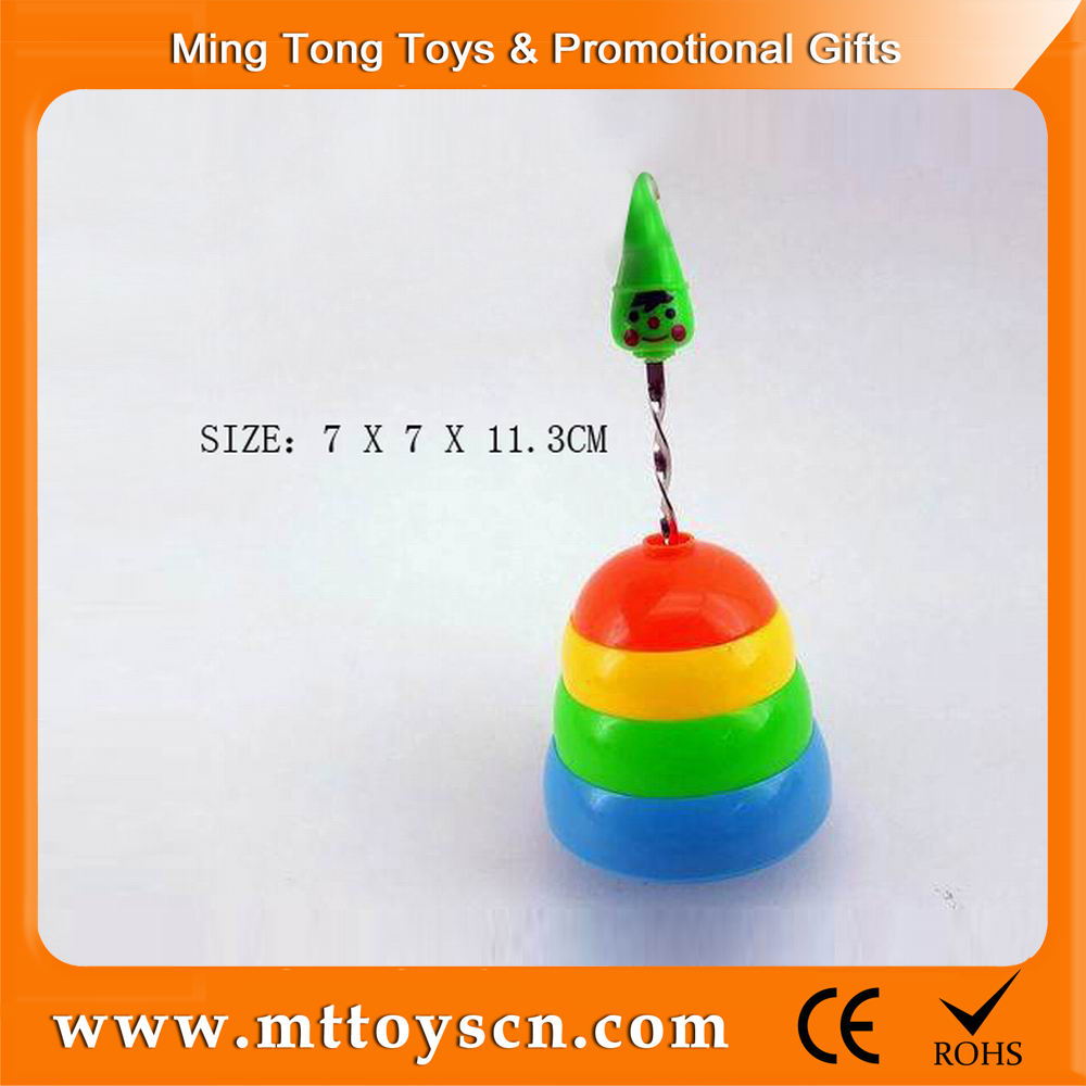 New design hand pull plastic super spinning top toy