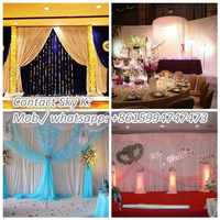 wedding table decoration, pipe and drape kits for events,wedding, trade shows