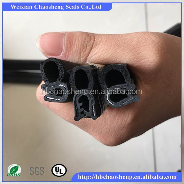 Heavy Duty Steel Reinforced Edging rubber seal Strip