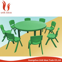 Child Furniture Plastic Kid Study Table And Chair Set for Daycare