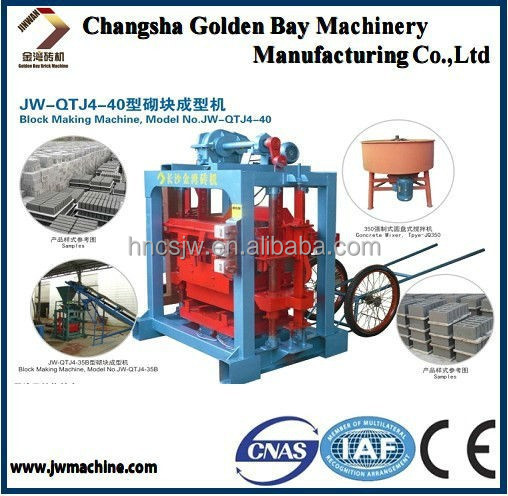 full automatic small scale production plant,changsha golden bay machinery manufacturing co,manual block machine