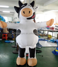 Hola funny inflatable mascot costume/inflatable cow costume/mascot costume