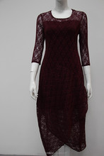 lace casual dress new patterns with half sleeves for women and ladies