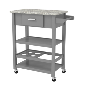 Wood Kitchen Storage Cart with Marble Top,Buffet Trolley with Wine Rack,  View wood storage cart with drawers, JENWOOD Product Details from Fuzhou ...