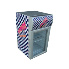 21L store use clear glass door front commercial use mini cooler fridge for energy drink