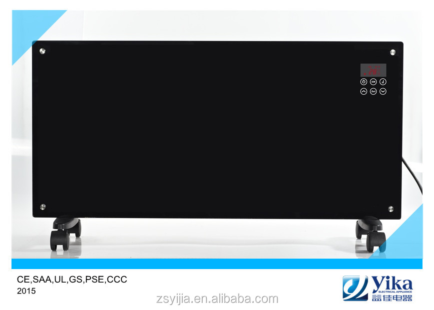 Touch screen/LED control Electric wall mounted Glass Panel Convector Heater