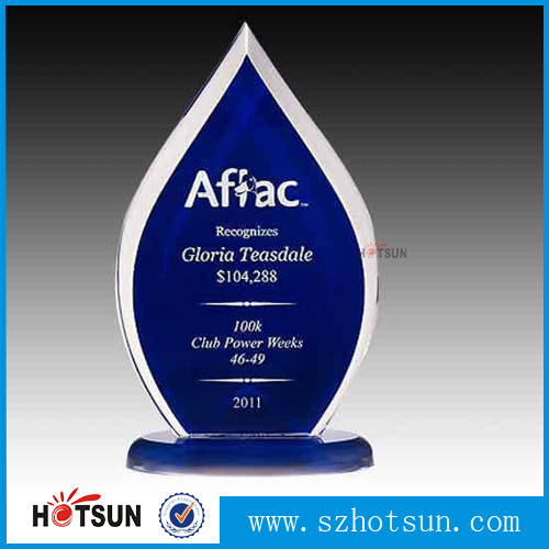 Business gift item acrylic embedment metal award