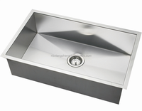 Rotating faucet Stainless Steel Sink with Single Bowl
