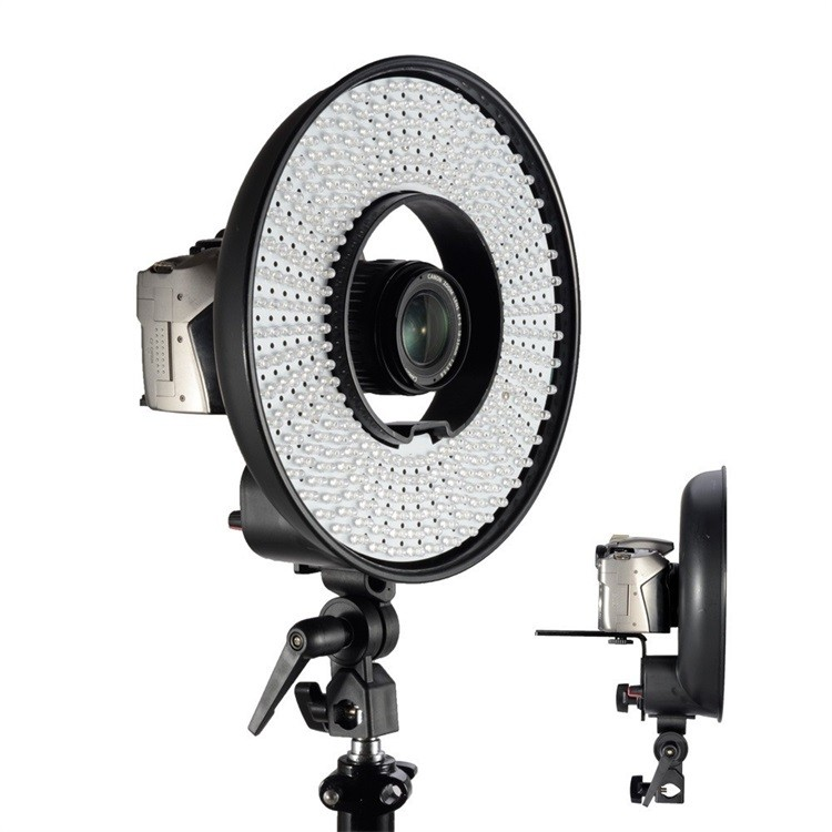 300 Ring LED Panel 3000K-7000K Film Shooting Continuous Light W Camera Bracket DVR-300DVC LED Photography Ring Light 13.jpg
