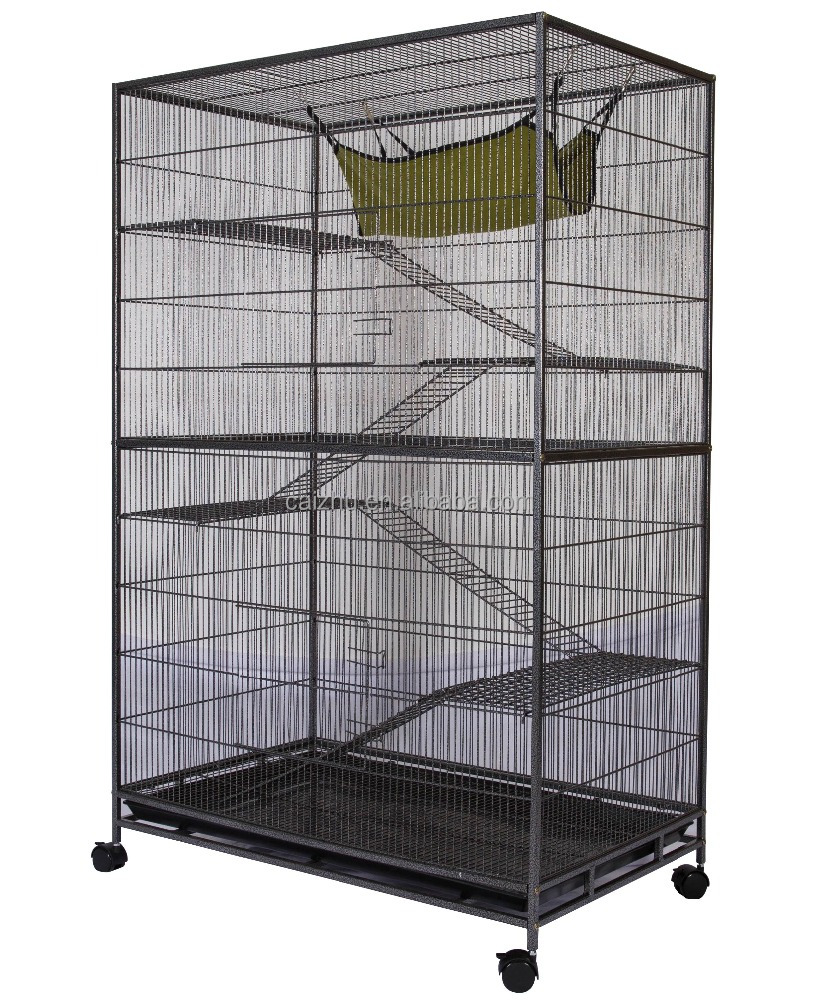 High quality 4 layers platform and stairs large luxury pet cat cage
