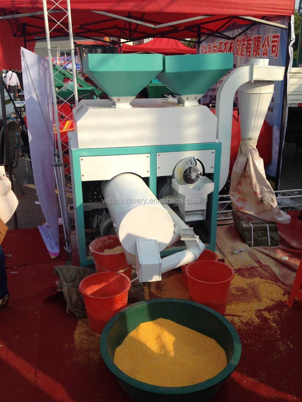 Small Scale Corn Flour Mill Maize Milling Machine