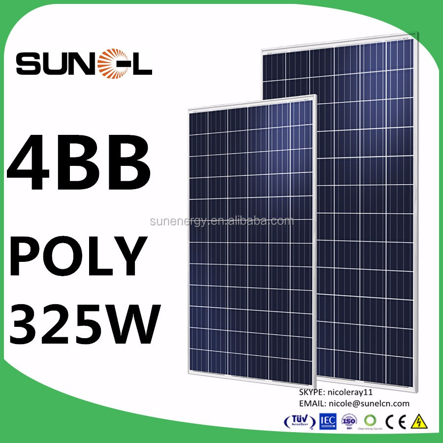 high power PV solar 325w 330w with 5 watt positive power sorting