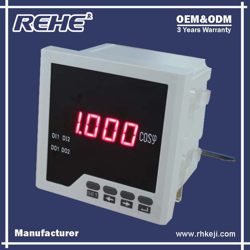 Power Saver Digital Single -phase 80*80mm Power Factor Meter