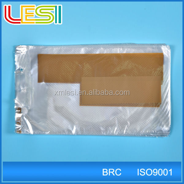 Sturdy reusable plastic micro perforated bag for bread fruit food packaging with custom logo