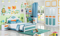 2017 Colorful modern kids bedroom set was made by E1 MDF board for green bedroom furniture for kids