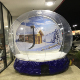 Dia 5m Giant Used Inflatable Christmas Ornaments Ball Snow Globe For Outdoor Advertising