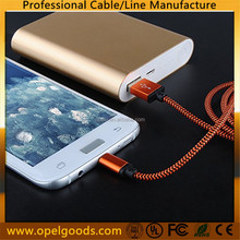 Nylon Aluminum 1M Cell Phone Charger Data Micro USB Cable