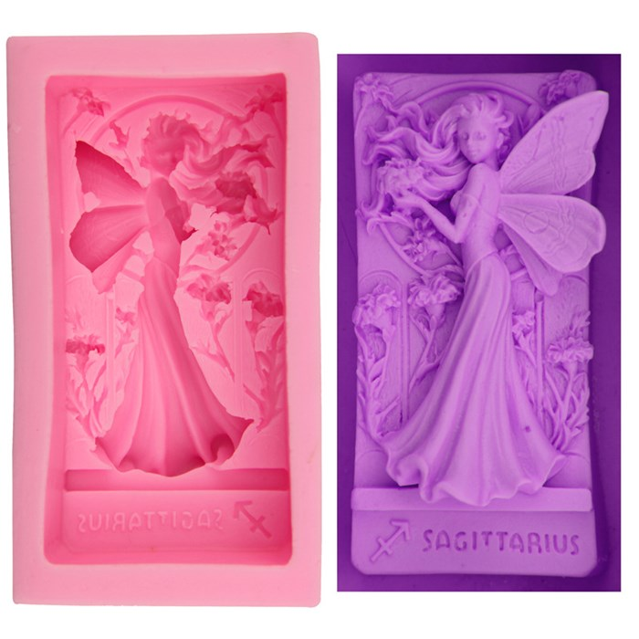 Angel Fairy Girl Handmade Soap Silicone Mold Making Candy Fondant Cake Decorating Fairy 3D Silicone Soap Mold