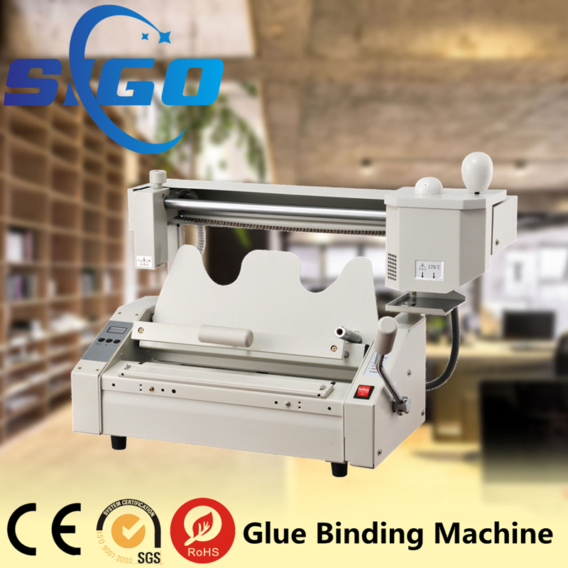 SG-TB02 mini hot melt glue book binding machine with high quality for sale