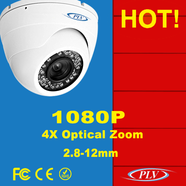 CE rohs conform hd ip camera dome security camera ip network cameras with 4X zoom lens