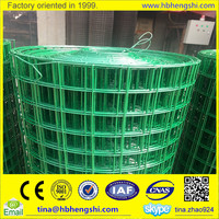 1/2 inch plastic coated welded wire mesh/galvanized welded wire mesh lowest price